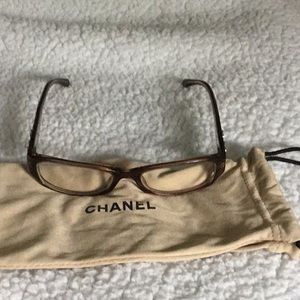 Like New Chanel eyeglass frame with matching pouch